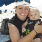 Michael and Jaxon Conover - beach